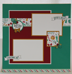 Stitched with Cheer Christmas Layout