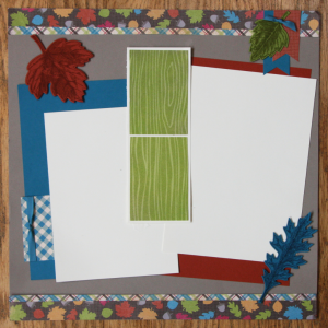 Vintage Leaves Layout